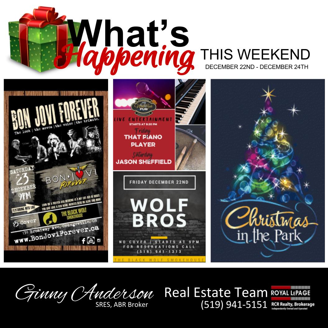 Happening This Weekend: What's Happening This Weekend Dec 22-24th